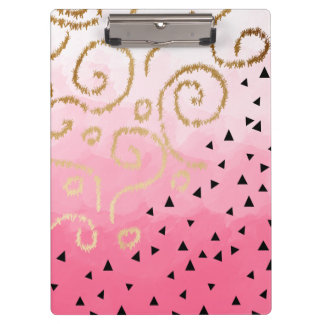 Pranchetas brushstrokes geométricos do rosa cor-de-rosa do