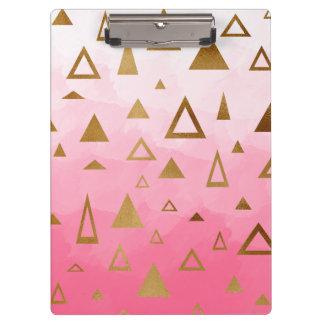 Pranchetas brushstrokes geométricos do rosa pastel dos