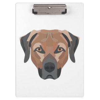 Pranchetas Cão Brown Labrador da ilustração
