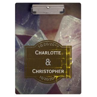 Pranchetas Casamento personalizado pedra preciosa da fluorite