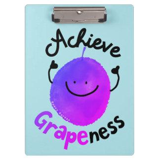 Pranchetas Chalaça positiva da uva - consiga Grapeness
