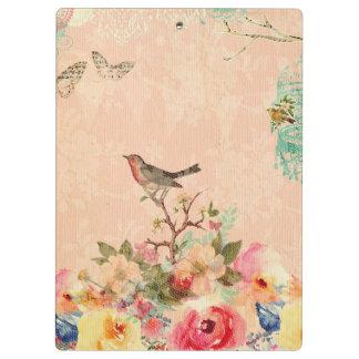 Pranchetas Chique, pássaro, borboleta, laço, floral, país ch