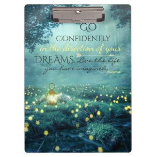 Pranchetas Citações de inspiração lunáticas dos sonhos
