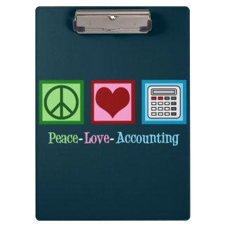 Pranchetas Contabilidade do amor da paz