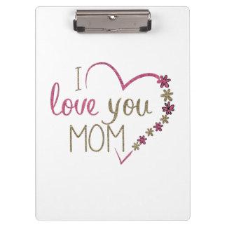 Pranchetas Coração do dia das mães da mamã do amor