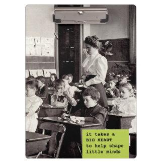Pranchetas de ensino da foto do professor do