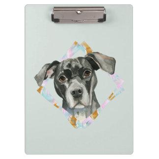 """Pranchetas De """"pintura da aguarela do cão do pitbull todas as"""