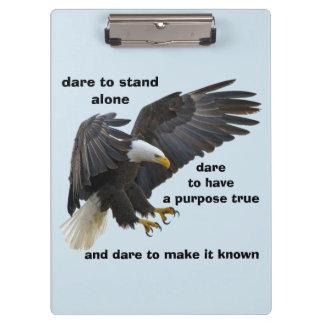 Pranchetas Desafio a estar edição sozinha, americana da águia