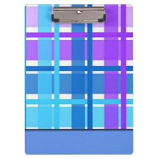 Pranchetas Design azul & roxo da xadrez