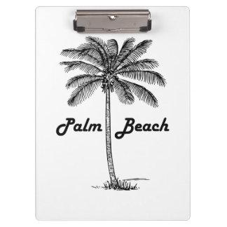 Pranchetas Design preto e branco do Palm Beach Florida & da