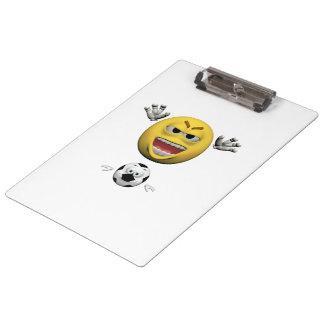 Pranchetas Emoticon amarelo ou smiley do futebol
