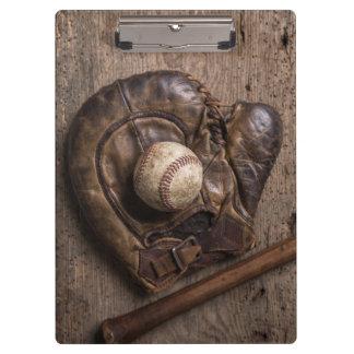 Pranchetas Equipamento de basebol do vintage