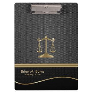 Pranchetas Escalas da lei | do advogado de justiça | - ouro e