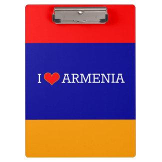 Pranchetas Eu amo Arménia, bandeira de Arménia