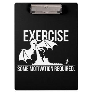 Pranchetas Exercício, alguma motivação exigida, dragão -
