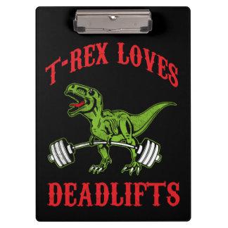 Pranchetas Exercício - T-Rex ama Deadlifts - Bodybuilding
