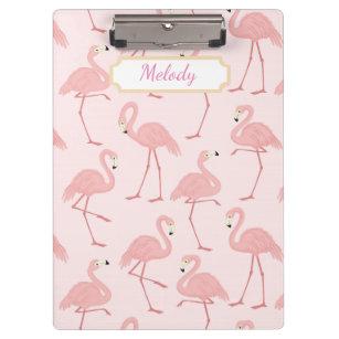 Pranchetas Felicidade cor-de-rosa do flamingo