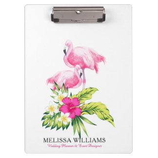 Pranchetas Flamingos & buquê tropical das flores
