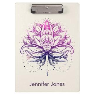 Pranchetas Flor roxa da aguarela Lotus/lírio