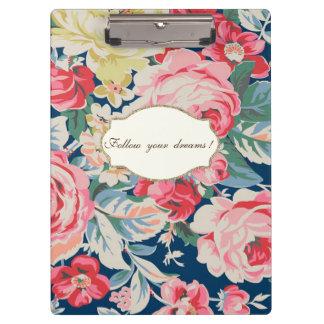 Pranchetas Flores românticas adoráveis - mensagem inspirador