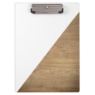 Pranchetas Foto profissional de madeira branca geométrica