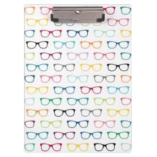 Pranchetas Geek multicolorido dos vidros do hipster do teste