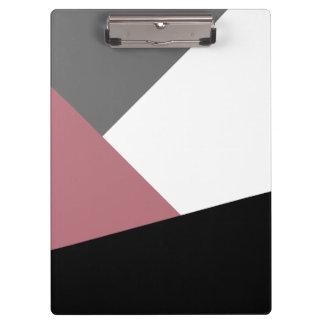 Pranchetas geometrics cor-de-rosa, preto, cinzento empoeirado