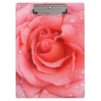 Pranchetas Gotas cor-de-rosa vermelhas românticas da água