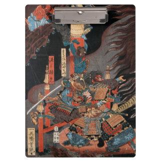 Pranchetas Herói Minamoto do samurai nenhum Yorimitsu