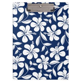 Pranchetas Hibiscus azul & branco