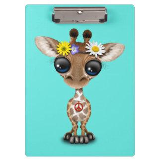 Pranchetas Hippie bonito do girafa do bebê