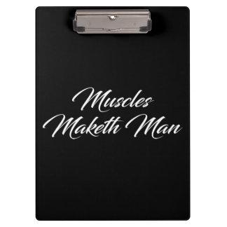 Pranchetas Homem de Maketh dos músculos - exercício inspirado