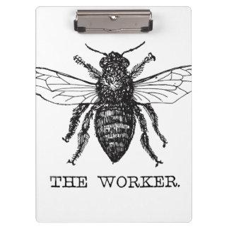 Pranchetas Ilustração da arte preta do vintage da abelha da