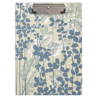 Pranchetas Impressão azul floral das flores da arte asiática