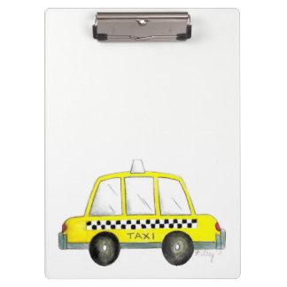 Pranchetas Impressão Checkered do táxi da Nova Iorque amarela