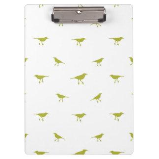 Pranchetas Impressão da silhueta dos pássaros