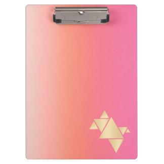 Pranchetas Inclinação alaranjado cor-de-rosa geométrico do
