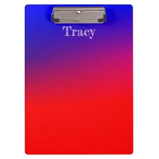 Pranchetas Inclinação azul e vermelho bonito
