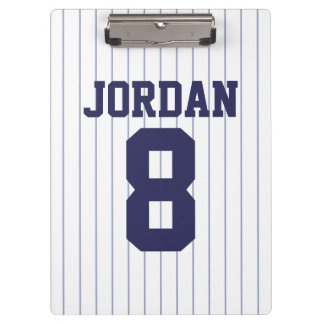 Pranchetas Jérsei de basebol com nome e número feitos sob