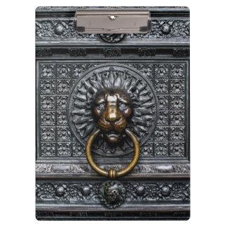 Pranchetas Leão de Doorknocker - preto/ouro