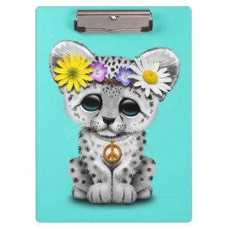 Pranchetas Leopardo de neve bonito Cub do Hippie
