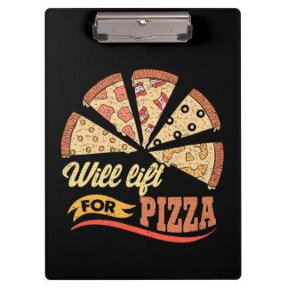 Pranchetas Levantará para a pizza - exercício engraçado da