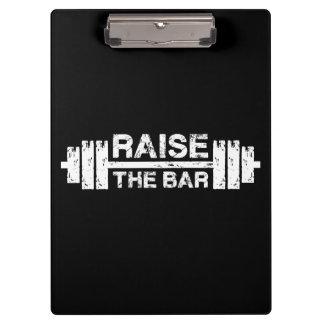 Pranchetas Levante o bar, Barbell - exercício do Gym