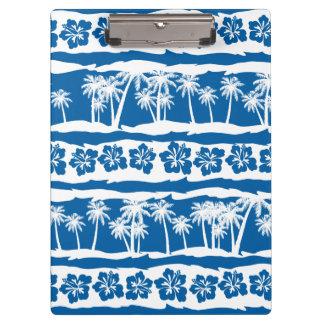 Pranchetas Listras tropicais da palma da praia