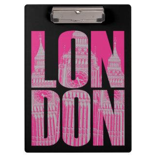 Pranchetas Londres cor-de-rosa