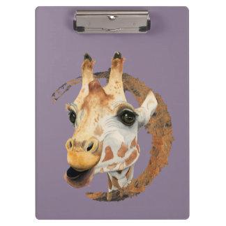 """Pranchetas """"Mastigação"""" pintura da aguarela de 2 girafas"""