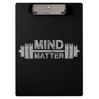 Pranchetas Mente sobre a matéria - exercício do Gym