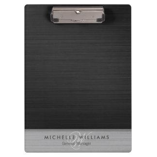 Pranchetas Metal perfurado preto elegante personalizado