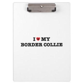 Pranchetas Mim coração meu border collie