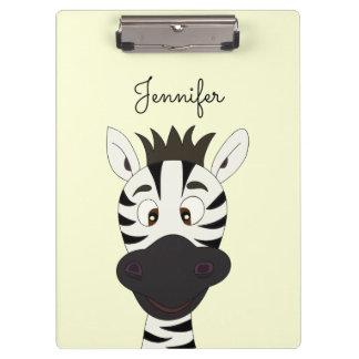 Pranchetas Miúdos engraçados dos desenhos animados da zebra